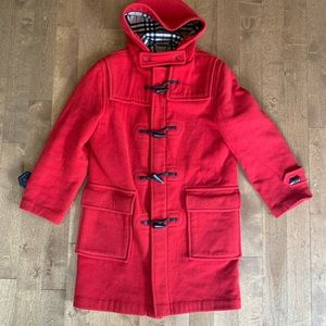Burberry London Specialty Dufflecoat In Red Plaid